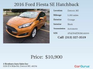 2016 Ford Fiesta SE Hatchback for Sale in Detroit, MI