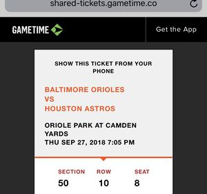 Orioles/Astro tickets for Sale in Centreville, VA