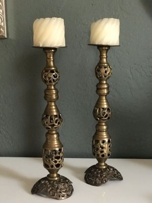 Solid Brass Vintage Candle holders for Sale in Miami, FL
