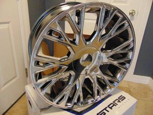 New 22X9.5 Cruiser Alloy PVD Chrome Rims *6X5.5 & 6X135* *25MM Offset* for Sale in Aurora, CO