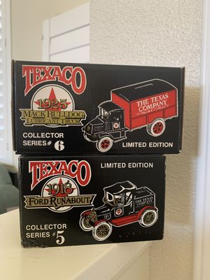 Collector 1925 Mac Bulldog truck and 1919 Ford Runabout piggy banks for Sale in San Dimas, CA
