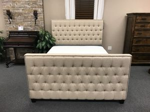 BRAND NEW BEIGE FABRIC TUFTED BED FRAME IN TWIN, FULL, QUEEN, EASTERN KING, CALIFORNIA KING for Sale in Byron, CA