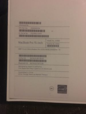 MacBook Pro brand new seal .15.5 inches for Sale in Long Beach, CA