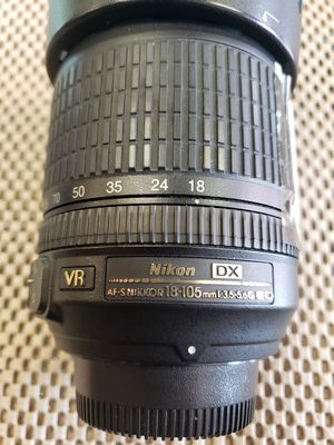 Nikon DX Nikkor 18-105mm Lense for Sale in Houston, TX