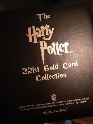 Harry Potter FULL SET 22kt gold collector card for Sale in Vero Beach, FL