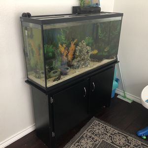 Marineland 60 Gallon Fish Tank With Stand And Filters for Sale in Garland, TX