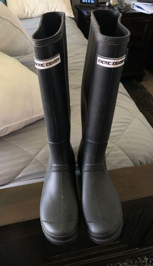 Rain boots black matte for Sale in Hemet, CA