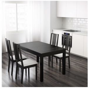 Espresso Solid wood expandable dining table for Sale in Ashburn, VA