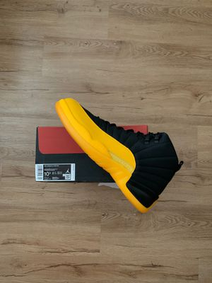Jordan 12 retro black yellow sz 10.5 new with receipt for Sale in San Leandro, CA