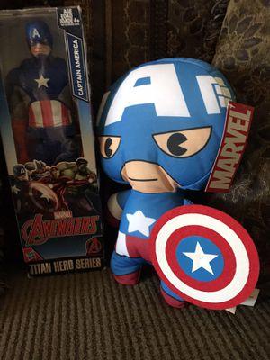 Marvel captain American figure & plush for Sale in Denver, CO