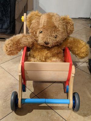 Moshi design all wood doll stroller for Sale in Santa Ana, CA