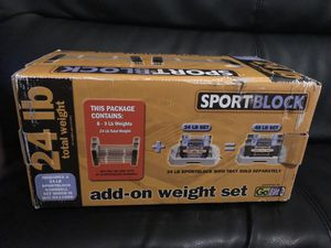 GoFit SportBlock 24 lb Add-On Weight Set NEW for Sale in Aurora, CO