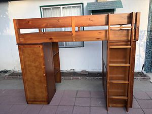 Solid wood loft bunk bed for Sale in Temple City, CA