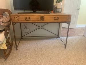 Wood & Metal Table/Desk for Sale in Austin, TX