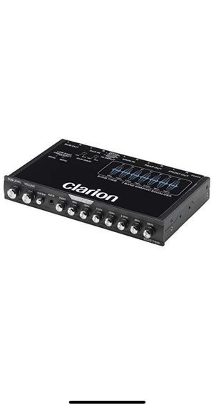 Clarion EQS755 7-Band Car Audio Graphic Equalizer with Front 3.5mm Auxiliary Input, Rear RCA Auxiliary Input and High Level Speaker Inputs for Sale in Los Angeles, CA