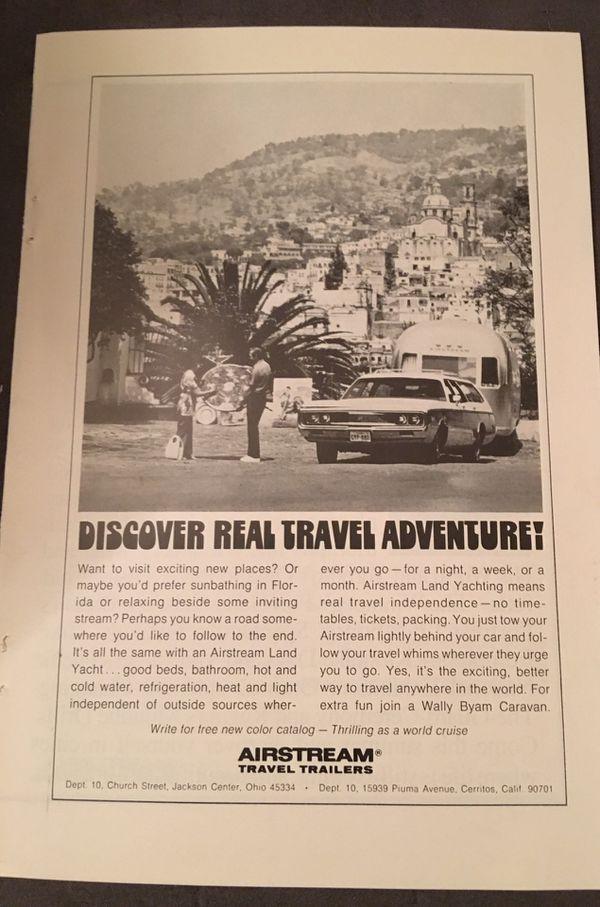 Airstream and Streamline Travel Trailer original vintage advertisements