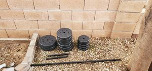 Brand new weight set with 3 bars for Sale in Scottsdale, AZ