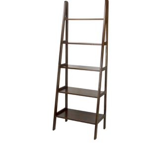 Warm Brown 5-Shelf Ladder Bookcase for Sale in NY, US