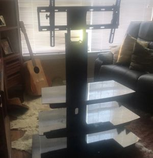 Glass Tv Stand Perfect Condition for Sale in Lake Wales, FL