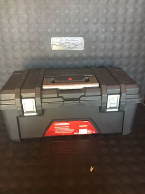 Husky 26 in. Plastic Tool Box with Metal Latches in Black for Sale in Redlands, CA