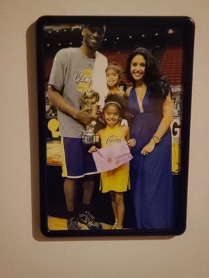Shipping asap Kobe Bryant Magnetic framed Picture of Kobe Bryant size 4 x 6in for Sale in Los Angeles, CA