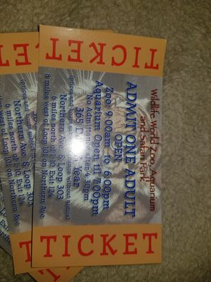 Zoo tickets for Sale in Mesa, AZ