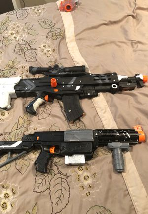 2 modded and painted nerf guns for Sale in Modesto, CA