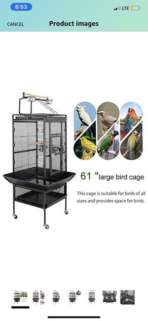 "ZENY 61"" Pet Bird cage Large Play Top Parrot Cockatiel Cockatoo Parakeet Finch Pet Supply for Sale in Whittier, CA"