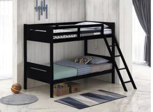 Kids black bunk bed free delivery!! for Sale in Riverdale, GA