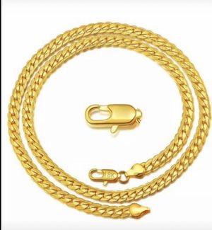 Stamped 24k beautiful chain necklace for Sale in San Jose, CA