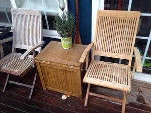 Thomas Baker teak wooden outdoor furniture for Sale in Suquamish, WA