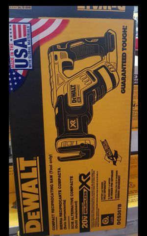 DEWALT 20V MAX XR BRUSHLESS RECIPROCATING SAW SAW TOOL ONLY BRAND NEW for Sale in San Bernardino, CA