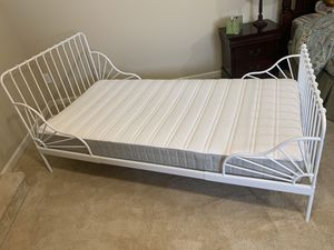 IKEA Minnen expandable kids bed plus Hasvag mattress. Never used. for Sale in Federal Way, WA