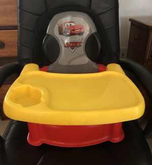 Disney Cars high chair booster seat for Sale in Virginia Beach, VA