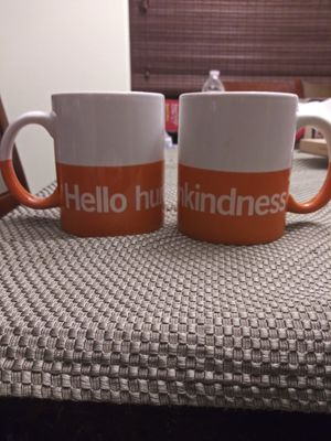 2 Ceramic Hello Humankindness coffee mugs Free WITH any purchase of $6 or more. for Sale in Gilbert, AZ