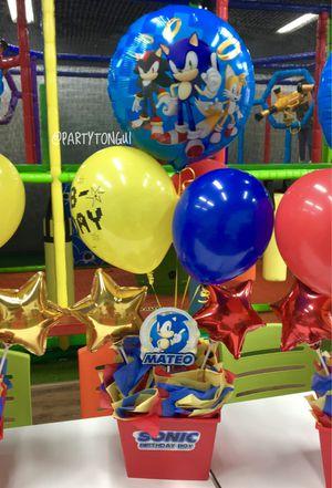 Balloons Centerpieces 🎈 Centros de Mesa en Globos 🎈 Birthday Balloons, Sonic Balloons for Sale in Miramar, FL