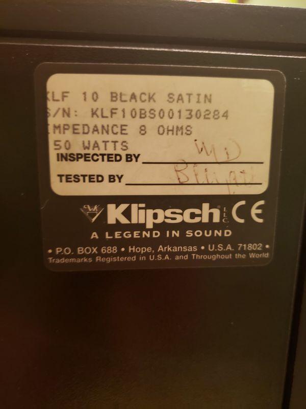 Klipsch KLF10