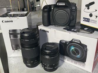 Canon 80D + 2 Lentes + Micrófono Regalo (todo En Caja) for Sale in Miami Springs,  FL