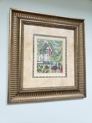 Framed artwork: south Pacific/ ernest Hemingway style for Sale in Durham, NC