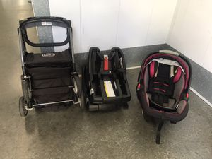 Graco infant car seat stroller and bases for Sale in Los Alamitos, CA