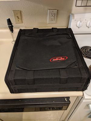 SKB 6 unit rack case with extra pouch for Sale in Addison, TX