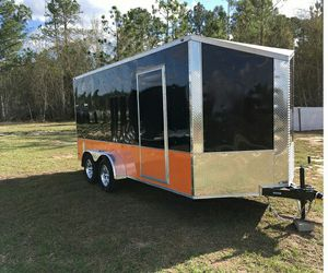 2O19 7x16 2' Slanted V Nose Enclosed Cargo Motorcycle for Sale in Wichita, KS