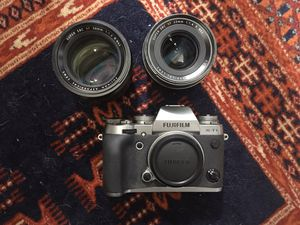 Fujifilm XT-1 - Graphite Silver Edition Mirrorless Digital Camera, Fujinon 56mm XF F1.2 Lens, Fujinon XF 23mm F1.4 Lens for Sale in San Diego, CA
