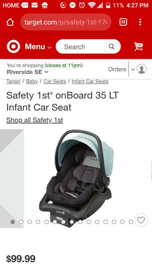 Safety 1st grade infant car seat _used for Sale in Moreno Valley, CA