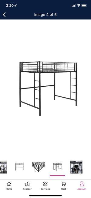 Black metal lofted full size bed frame for Sale in Saint Joseph, MO
