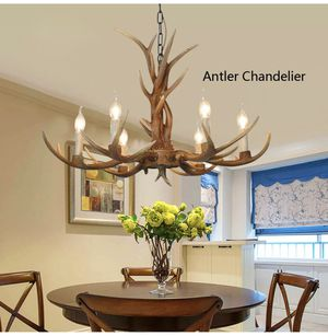 🍂 NEW 6-Head Deer Antler Chandelier Ceiling Lamp for Sale in Pinecrest, FL