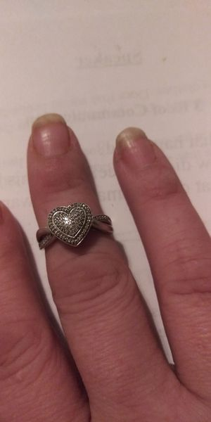Beautiful 925 Sterling Silver Diamond Ring Size 7 for Sale in Phoenix, AZ