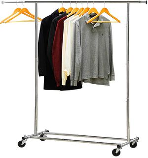 Simple Houseware Heavy Duty Clothing Garment Rack, Chrome for Sale in Ontario, CA