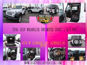 2016 Jeep Wrangler Unlimited Sport for Sale in Glendale, AZ