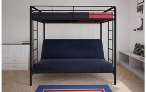 Bunk bed with futon mattress for Sale in Grand Island, NY